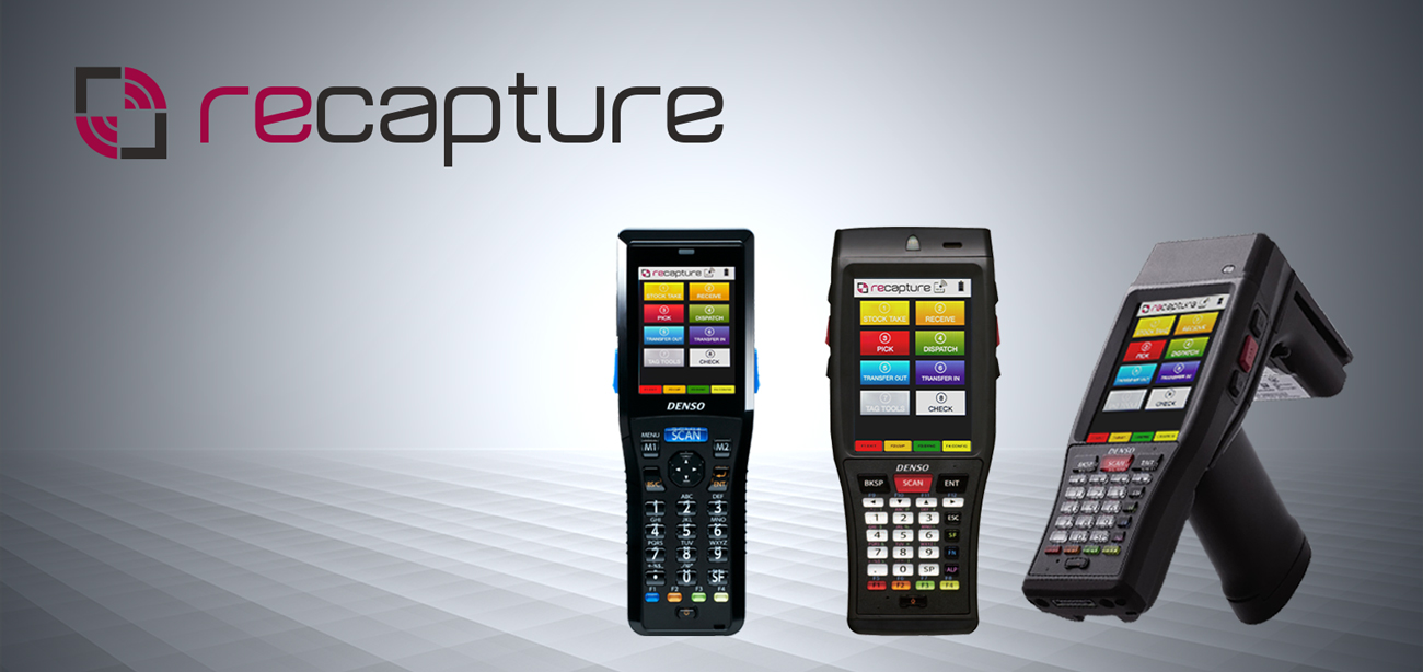 recapture software installed o handheld barcode scanners with the option for RFID reader